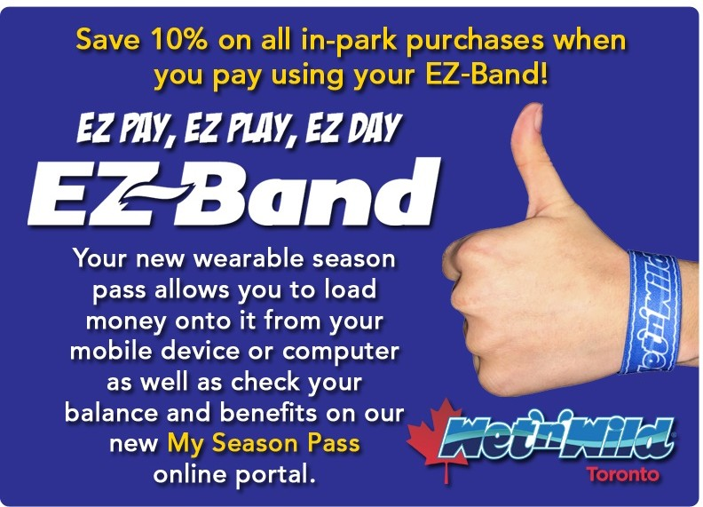 EZ Band - Save 10% on Food and Retail When Using EZ-Pay
